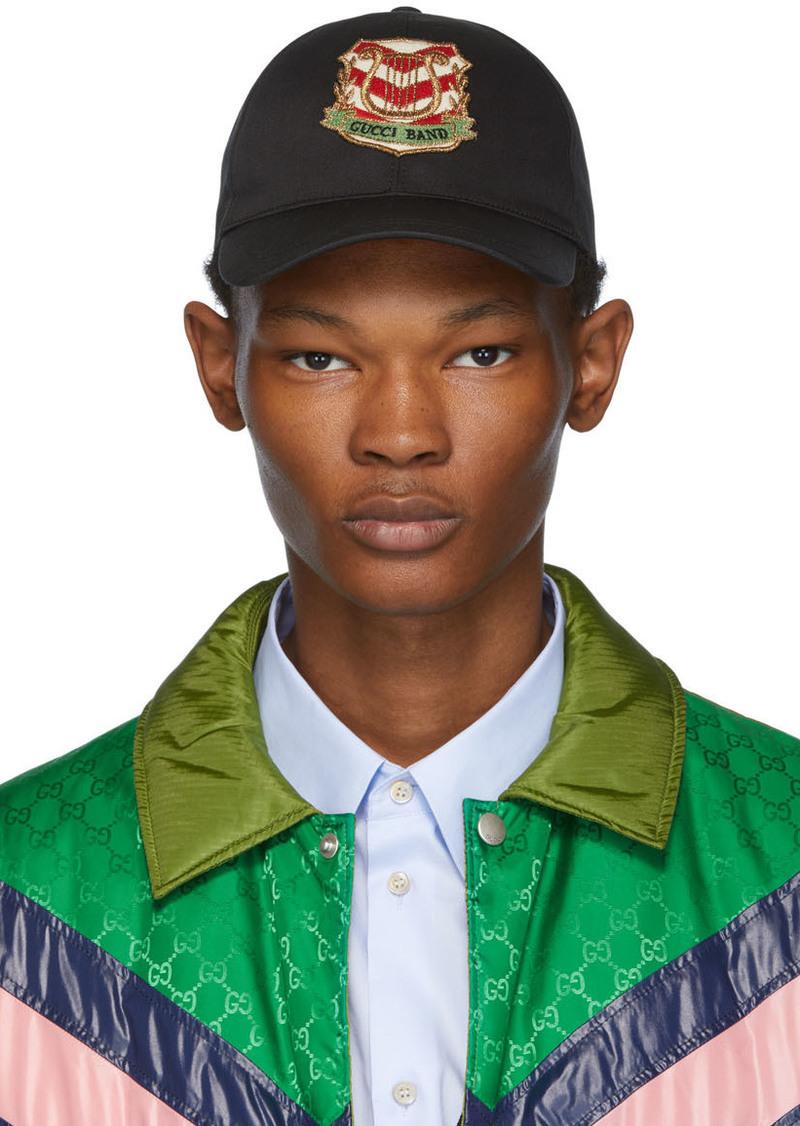 Black 'Gucci Band' Baseball Cap