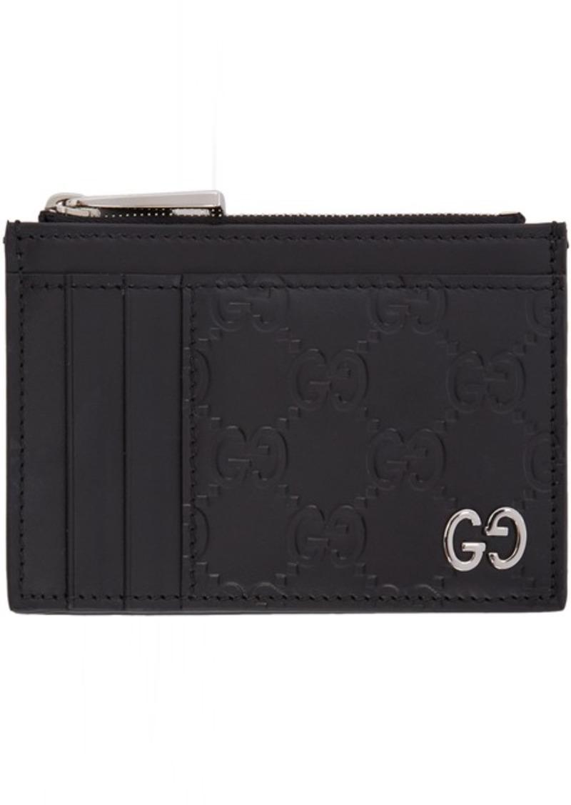 Black 'Gucci Signature' Card Holder