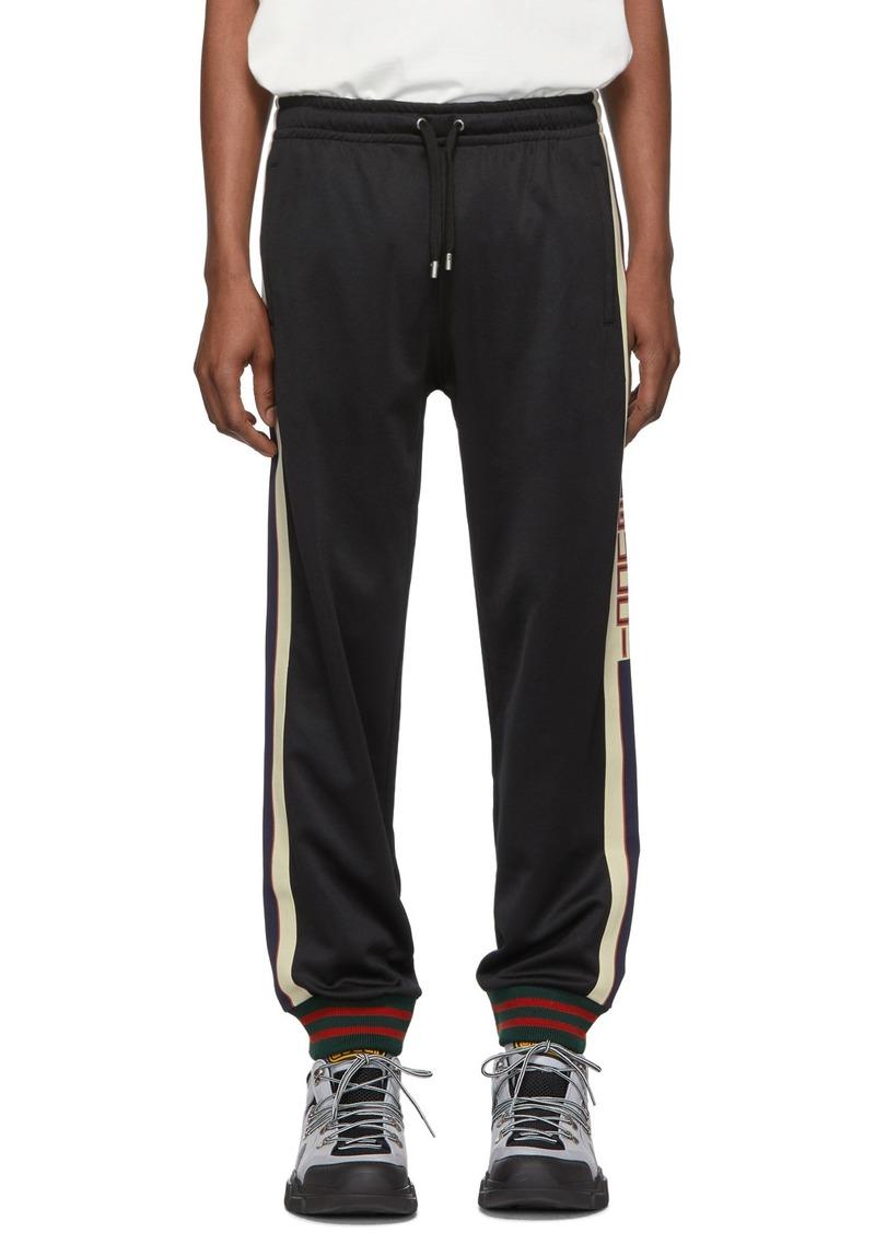 Gucci Black Jersey Lounge Pants