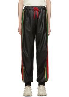 Gucci Black Leather Lounge Pants