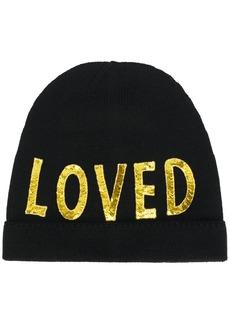 Gucci Black Loved Sequin Embellished Hat
