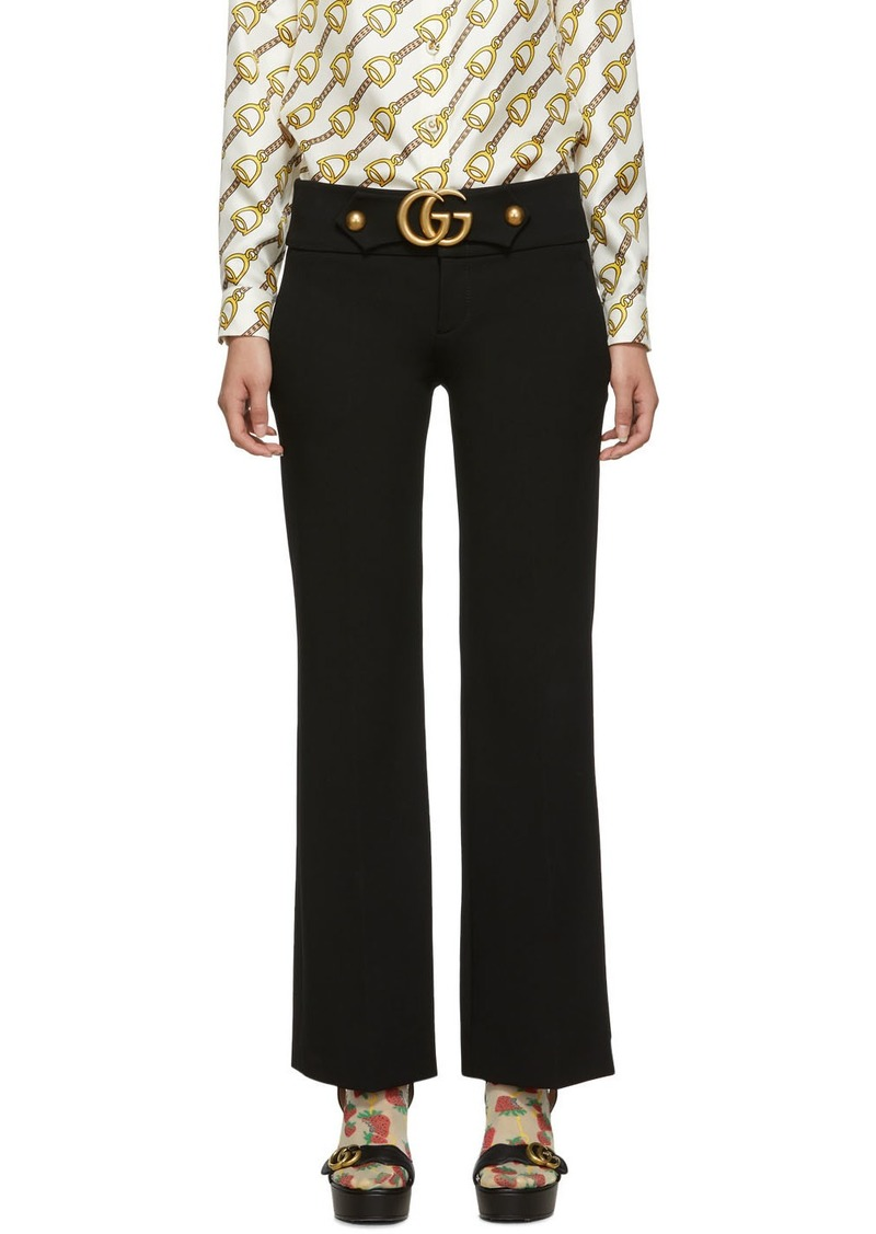 Gucci Black Marmont Boot Trousers