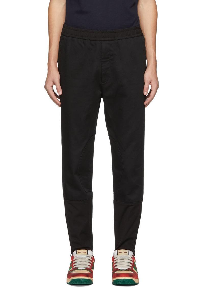 Gucci Black Military Drill Trousers