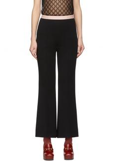Gucci Black Punto Milano Trousers