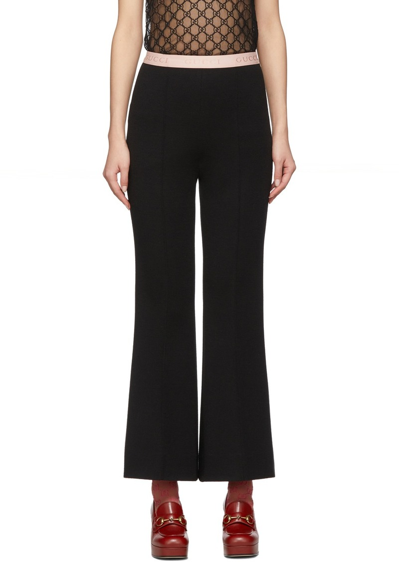 Gucci Black Punto Milano Trousers