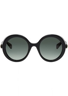 Gucci Black Round Frame Sunglases