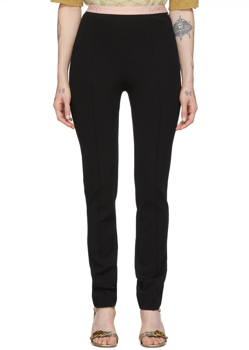 Gucci Black Viscose Jersey Leggings