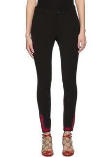 Gucci Black Web Leggings