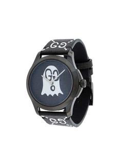 Black White GucciGhost G-Timeless watch