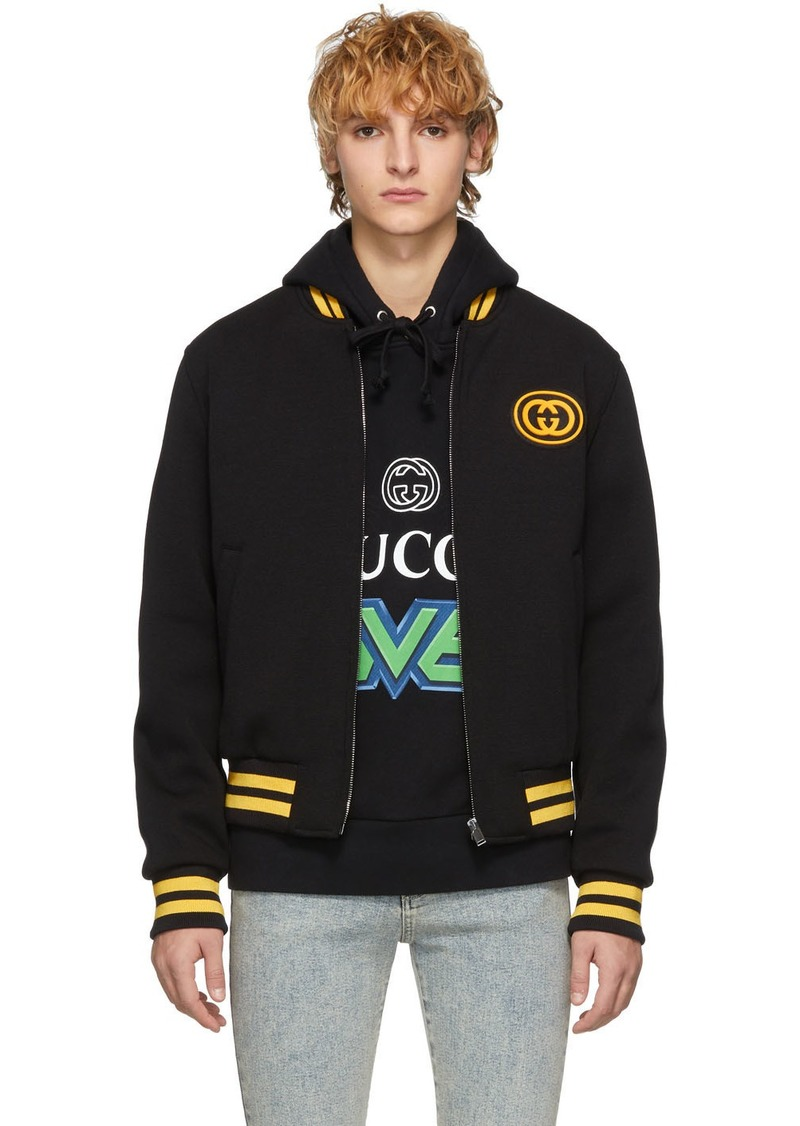Gucci Black Wool Bomber Jacket