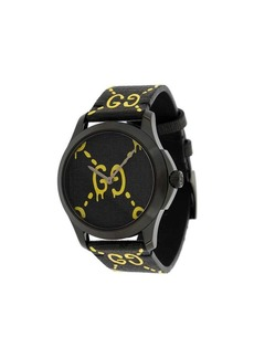 Black Yellow GucciGhost G-Timeless watch