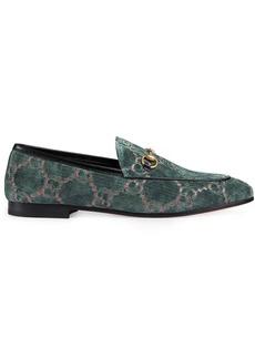 Gucci Blue Jordaan GG velvet loafers