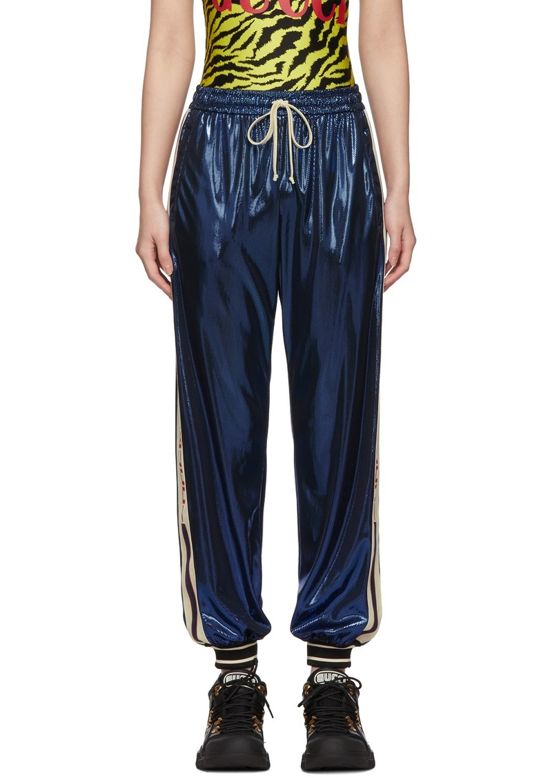 Gucci Blue Laminated Lounge Pants