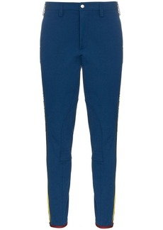 Gucci blue tailored gabardine track trousers