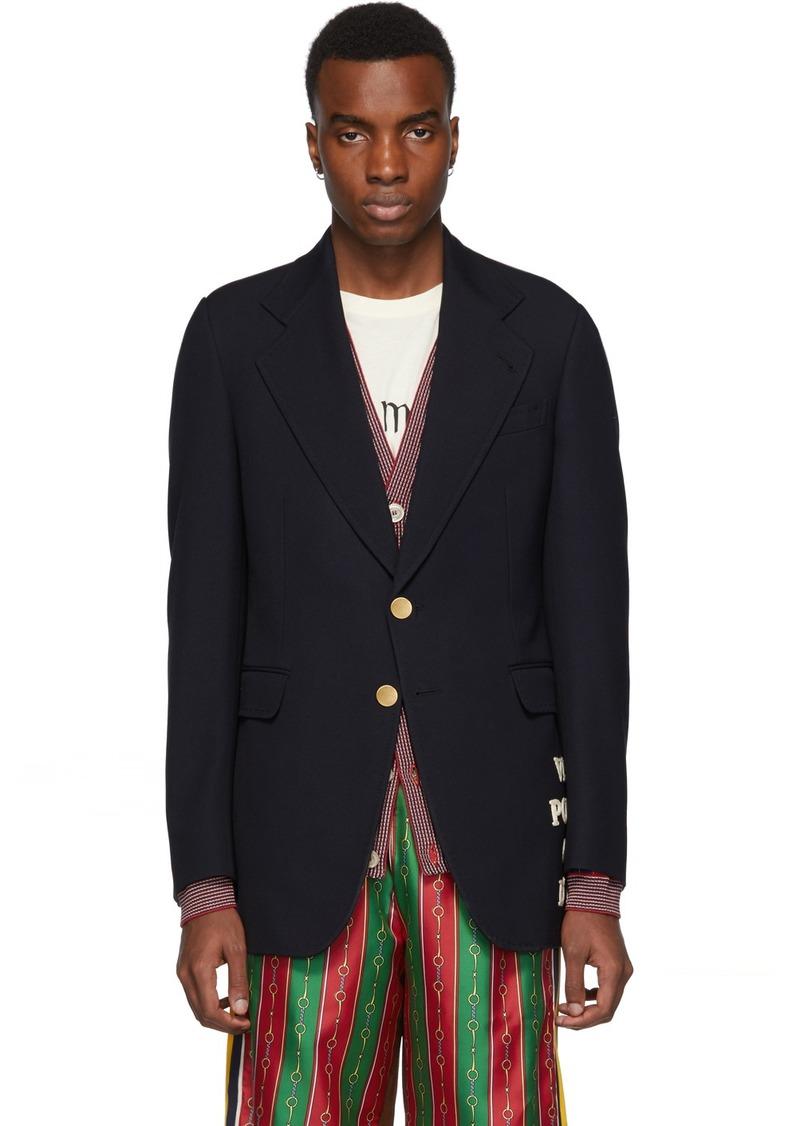 Gucci Blue Wool 'Côte d'Azur' Blazer