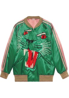 Gucci Bomber jacket with panther face
