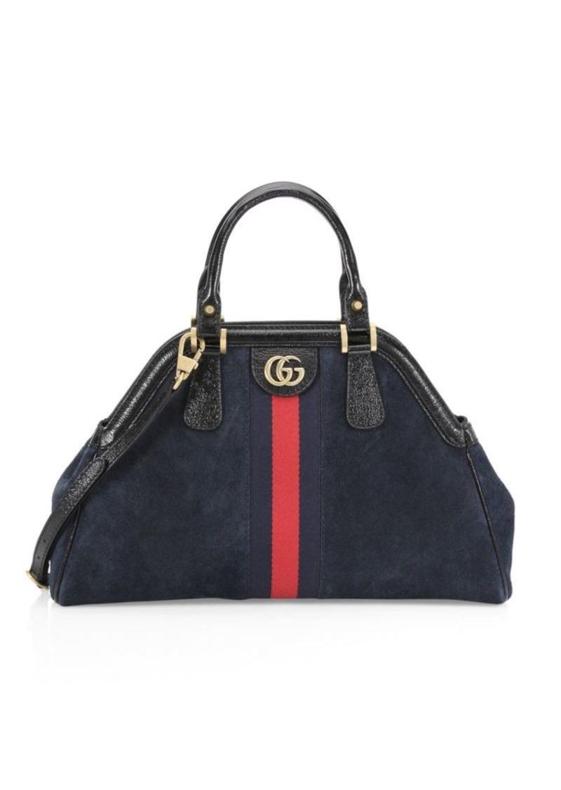 ea6e9dc78ae9b Gucci Borsa Linea Medium Top Handle Leather Tote