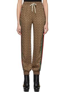 Gucci Brown G Rhombus Lounge Pants