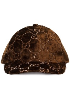 Gucci GG-embroidered silk-blend baseball cap