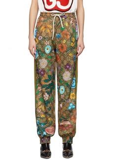 Gucci Brown GG Flora Lounge Pants
