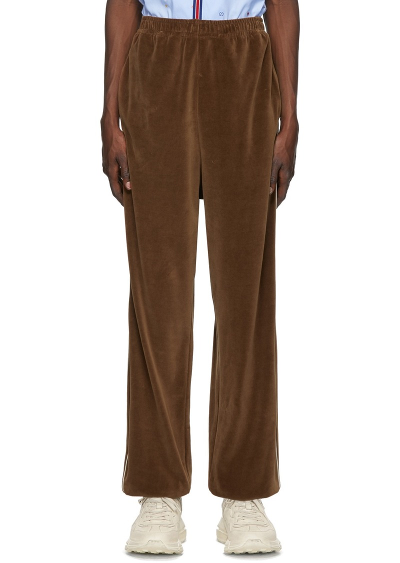 Gucci Brown Loose Chenille Lounge Pants