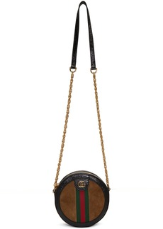 Gucci Brown Mini Ophidia Round Bag