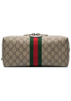 Gucci Ophidia GG Supreme leather-trimmed logo-print canvas wash bag