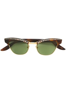 Gucci brown optyl and metal sunglasses