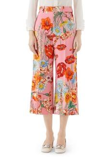 Gucci Cady Floral Culotte Pants