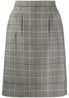 Gucci check pattern A-line skirt