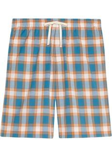 Gucci check-print cotton shorts
