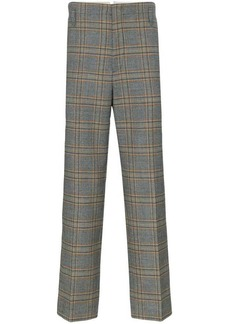 Gucci check print tailored wool trousers