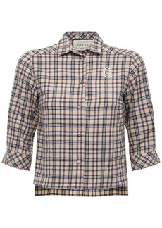 Gucci Checked Cotton & Wool Shirt