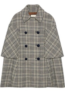 Gucci checkered double-breasted cape coat