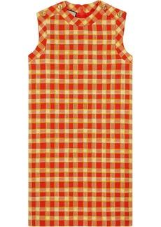 Gucci checkered tweed shift dress