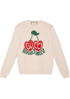 Gucci cherries logo intarsia jumper