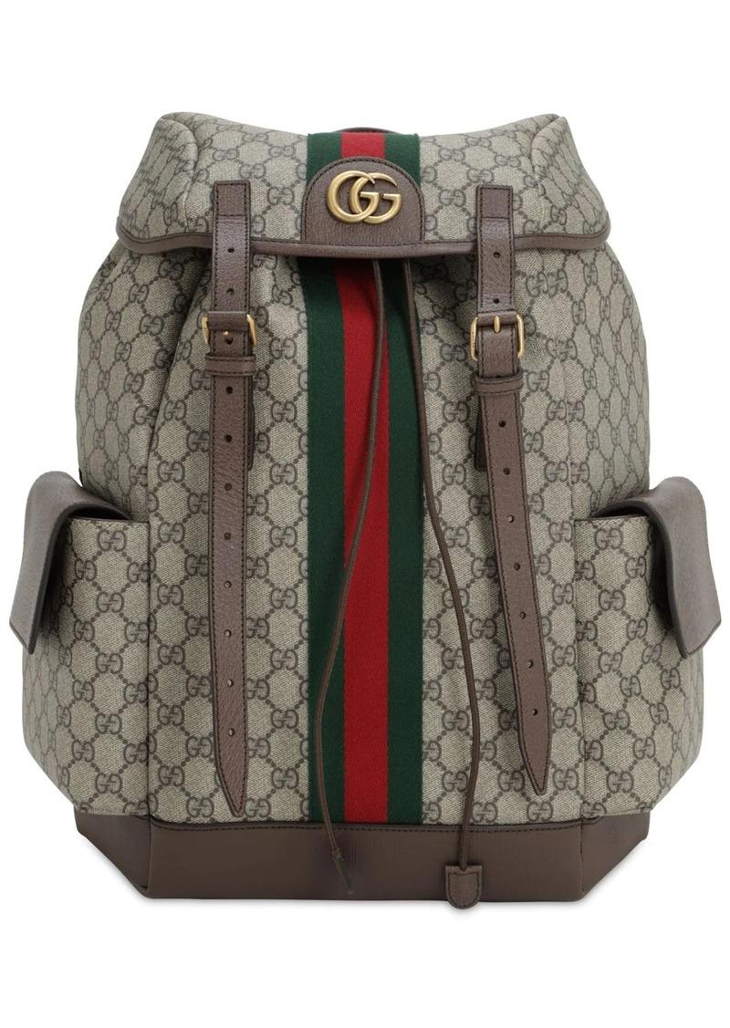 Gucci Coated Gg Supreme Ophidia Backpack
