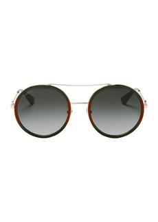 Gucci Colorblock Round Aviator Sunglasses
