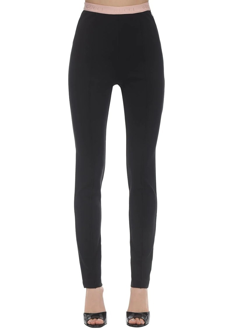 Gucci Compact Stretch Jersey Leggings