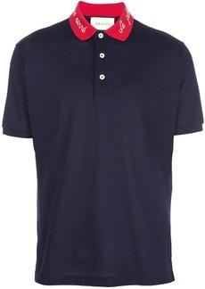 Gucci contrast collar polo shirt