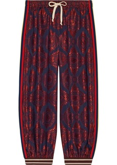 Gucci Contrast print silk jogging pant