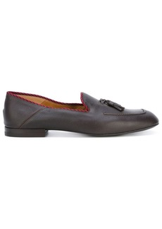 Gucci contrast trim loafers