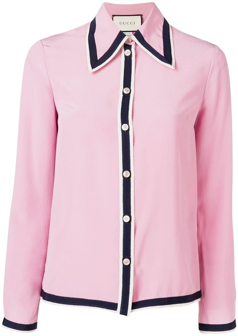 Gucci contrast trim shirt