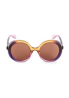 Gucci Core 53MM Round Shield Sunglasses