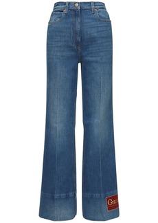Gucci Cotton Denim Flared Jeans