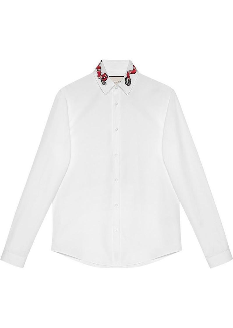 4898ba04e44 Gucci Cotton Duke shirt with snake