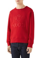 Cotton Jersey Gucci Tennis Sweatshirt