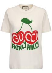 Gucci Cotton Jersey T-shirt W/cherry Logo