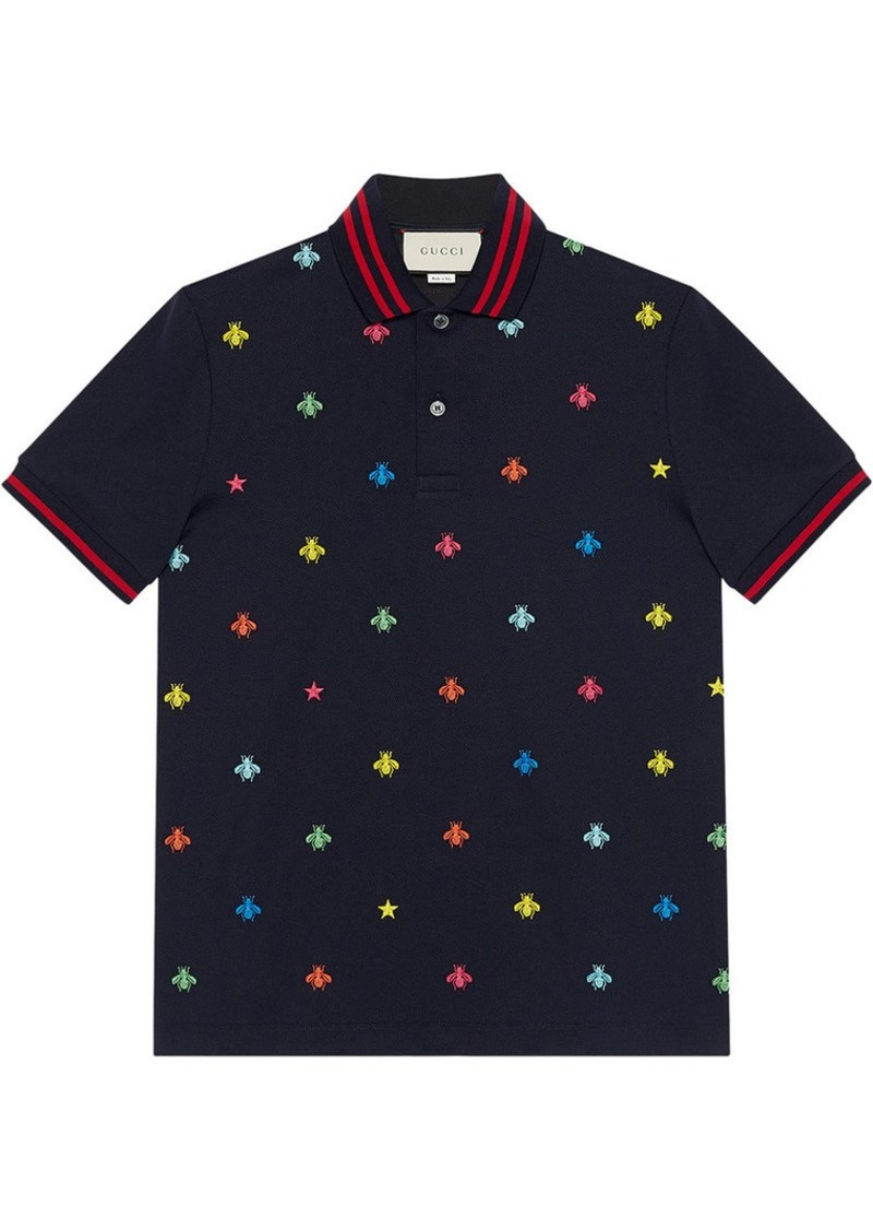 3894369ae Gucci Cotton polo with bees and stars | Casual Shirts