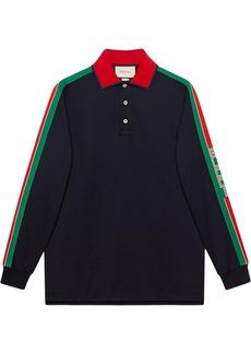 Gucci Web stripe-detail polo shirt